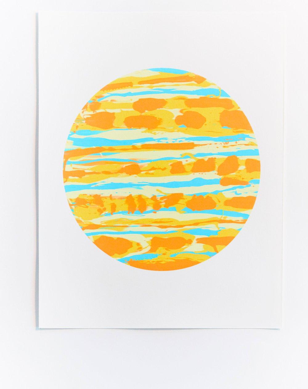 Yellow Monoprint