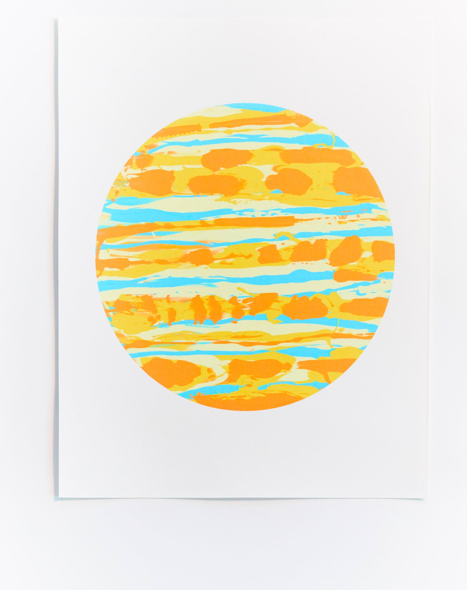 Image of Yellow Monoprint