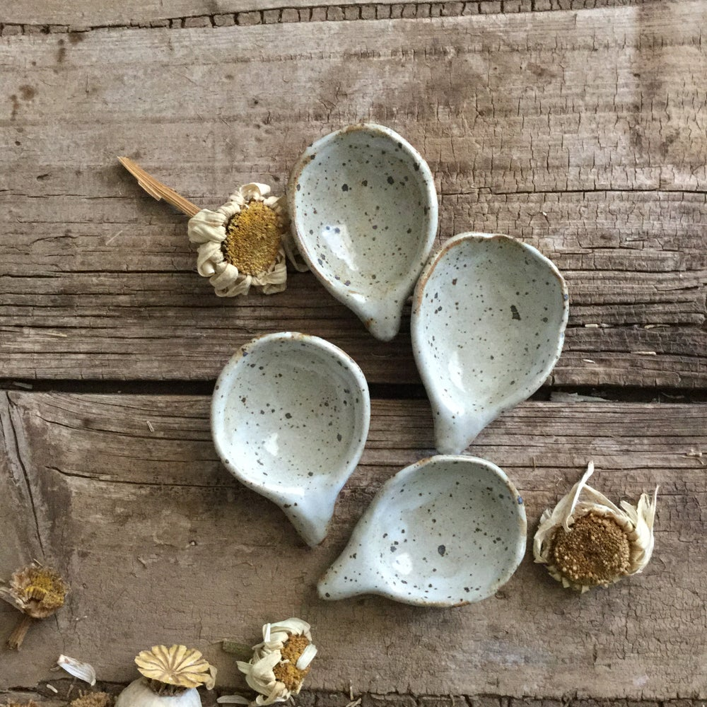 Image of Set of four speckled spice spoons 1805052