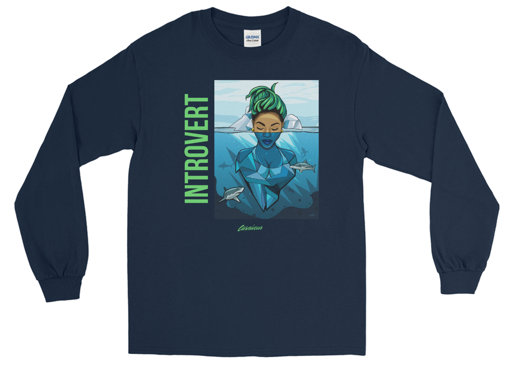 Image of Introvert Long sleeve (Navy)