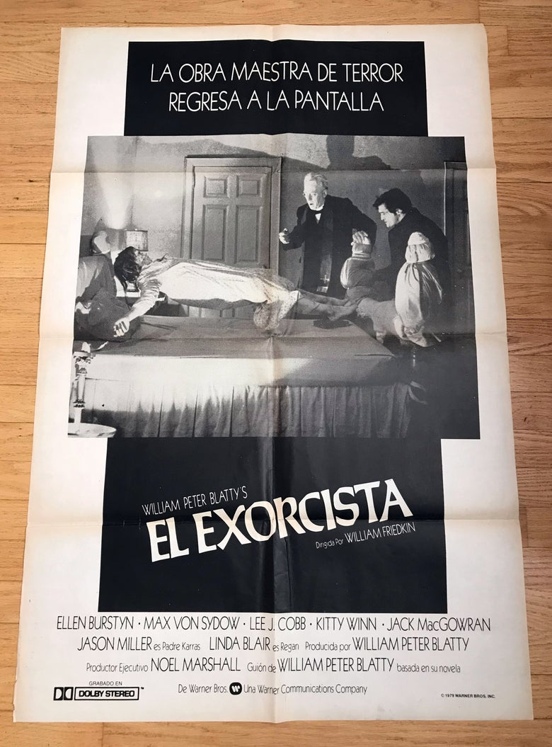 Image of 1974 Exorcist Argentinian Original 1979 Re Release One Sheet Movie Poster