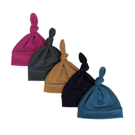 Image of merino wool knotted hats