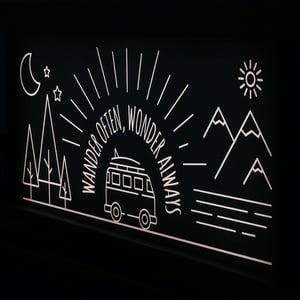 Image of WANDER OFTEN, WONDER ALWAYS LIGHTBOX