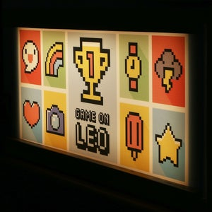 Image of Retro Video Game inspired personalised lightbox
