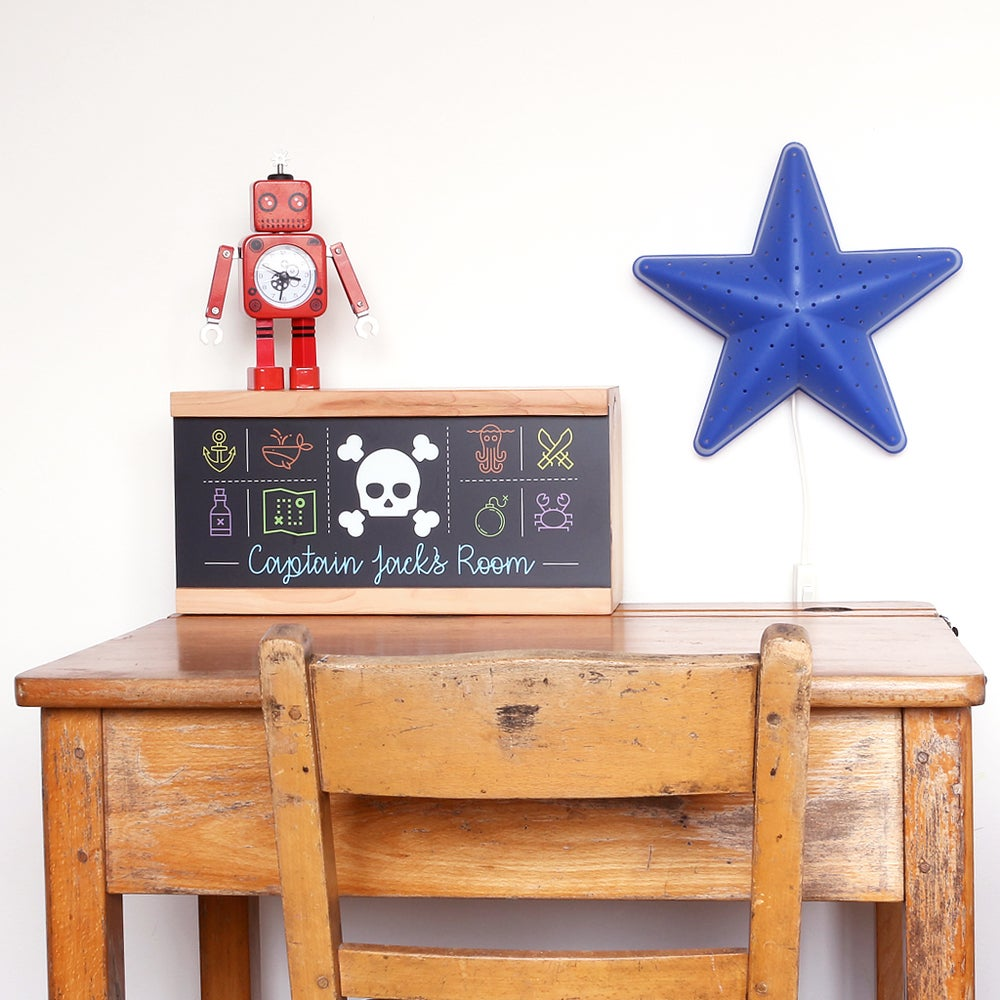 Image of PERSONALISED PIRATE LIGHTBOX