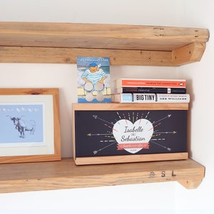 Image of Personalised Love Heart Wooden Light Box