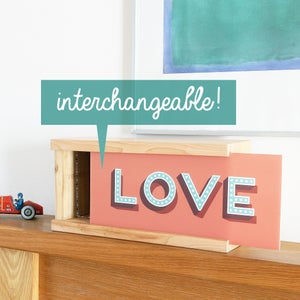 Image of Personalised wooden photographic light box