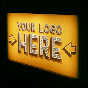 Image of Personalised Logo Wooden Light Box