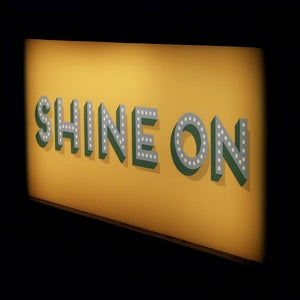 Image of Positive Words Wooden Light Box