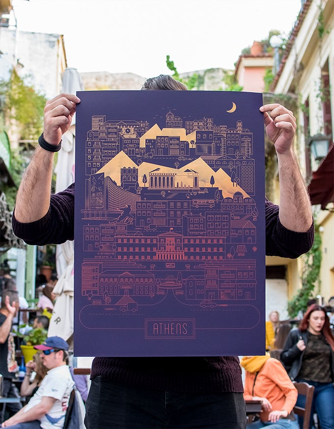 Image of Athens on Violet