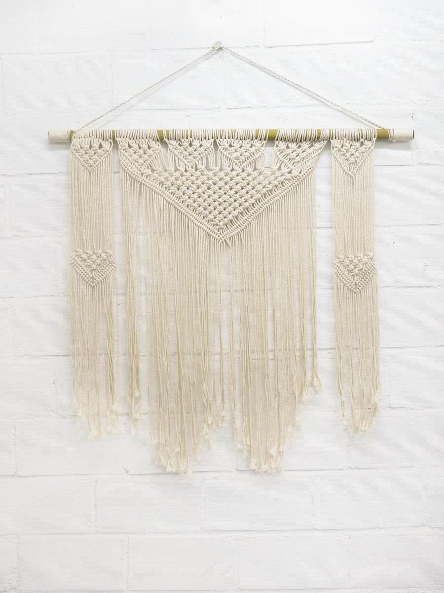 Image of Large Fanion - suspension MACRAMÉ (ancien prix 90€)