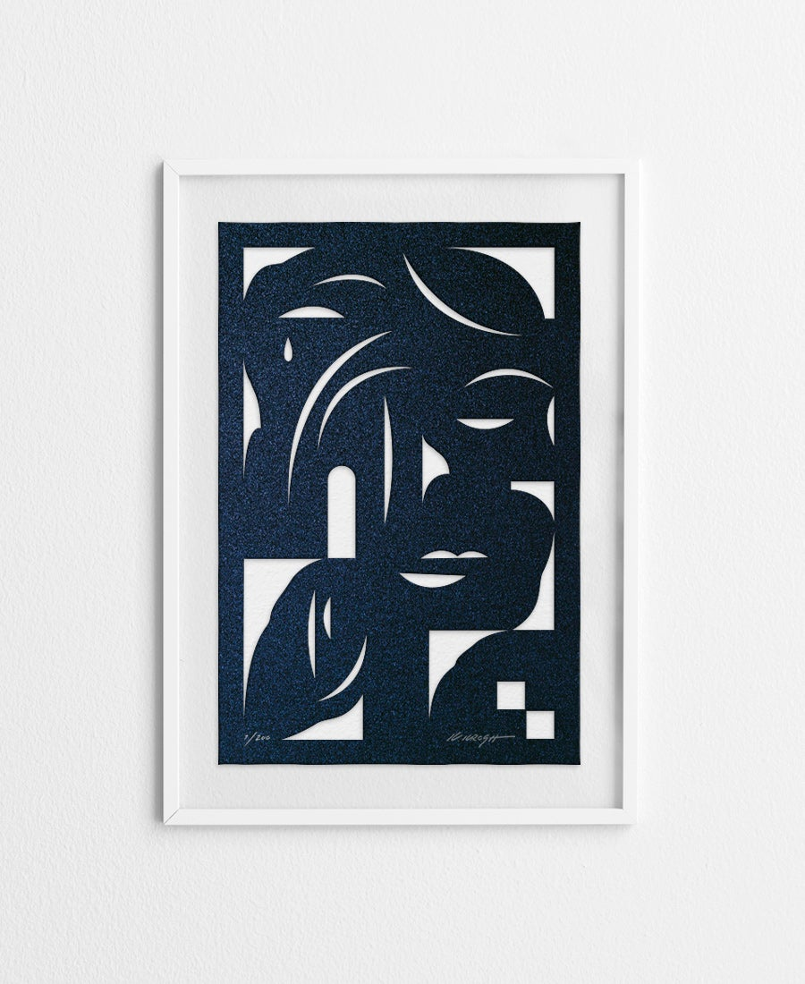 Image of Face Blue · Papercut