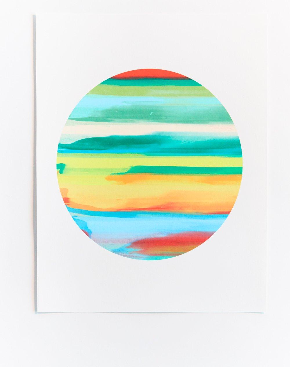 Multicolored Monoprint