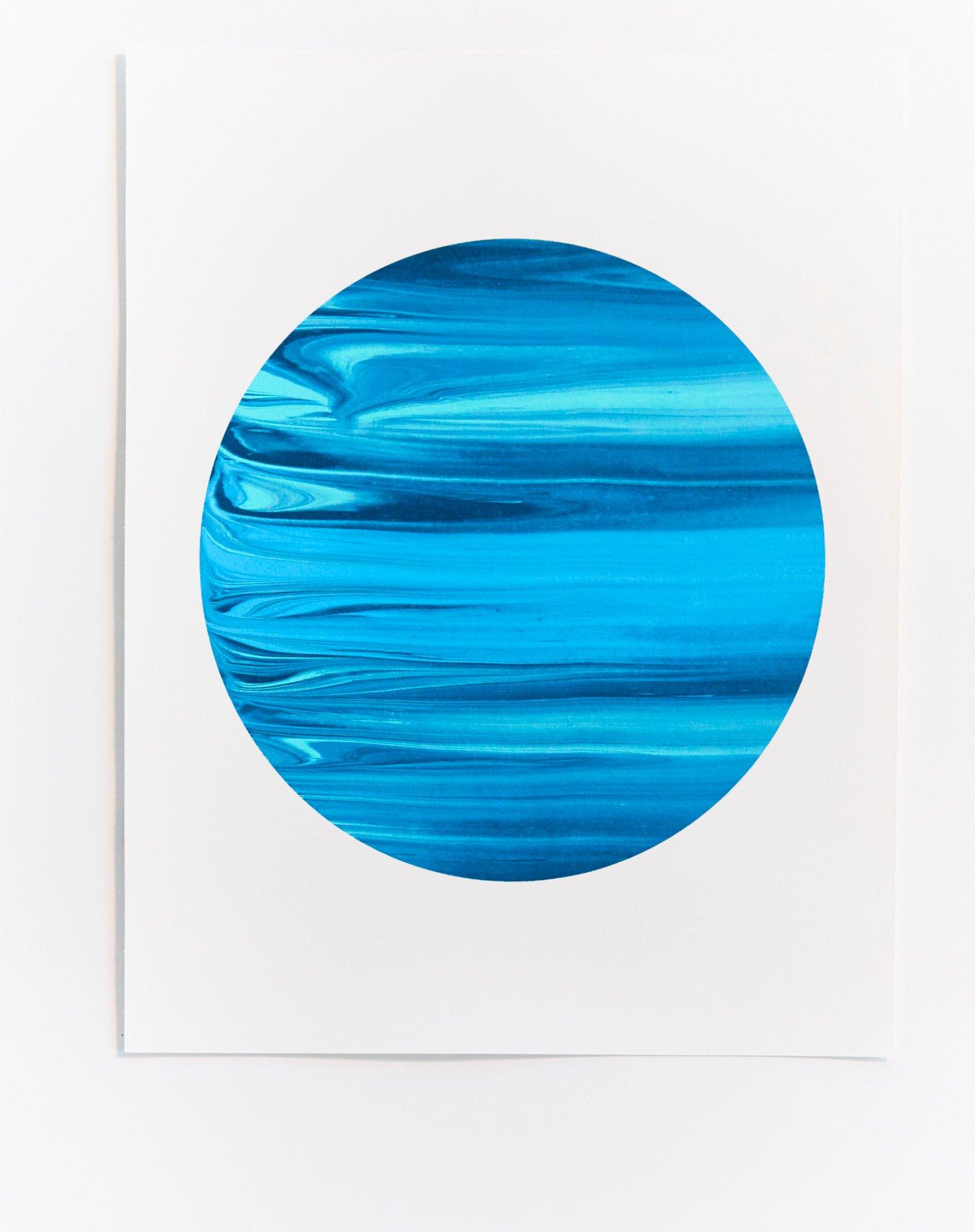 Image of Blue Monoprint