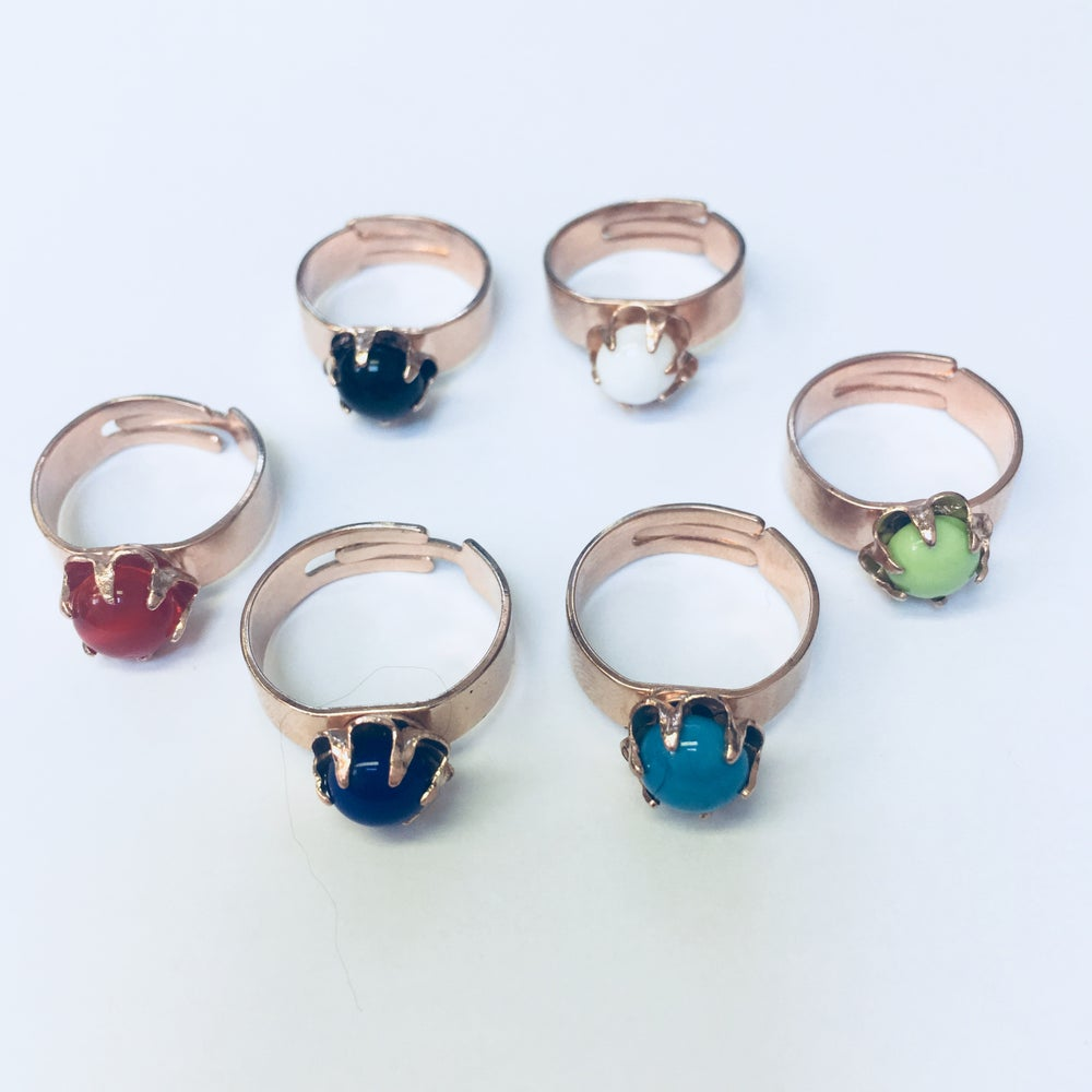 Image of Bague ColorBlock // Monture OR ROSE