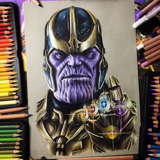 Image of Limited edition Thanos print