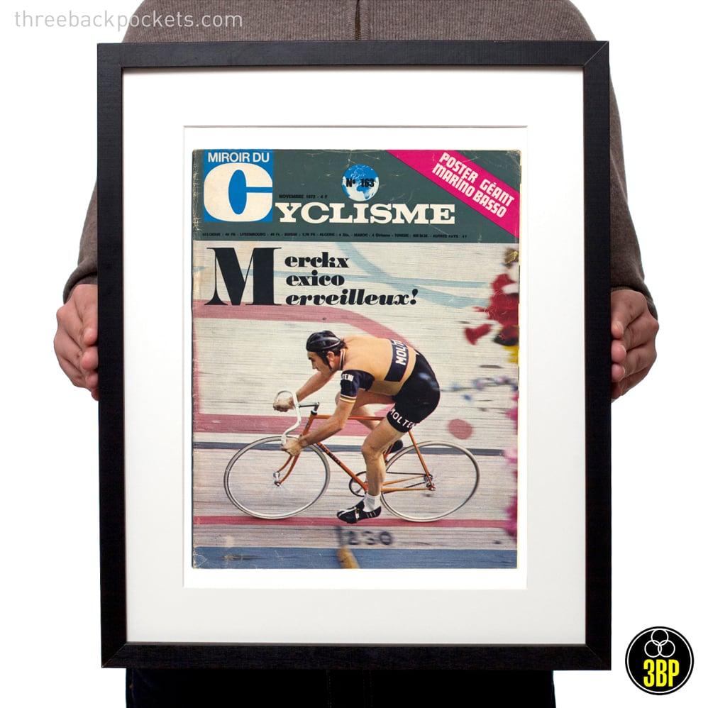 Image of Eddy Merckx 1972 Hour Record magazine cover print