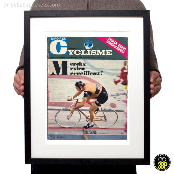 Image of Eddy Merckx 1972 Hour Record magazine cover print