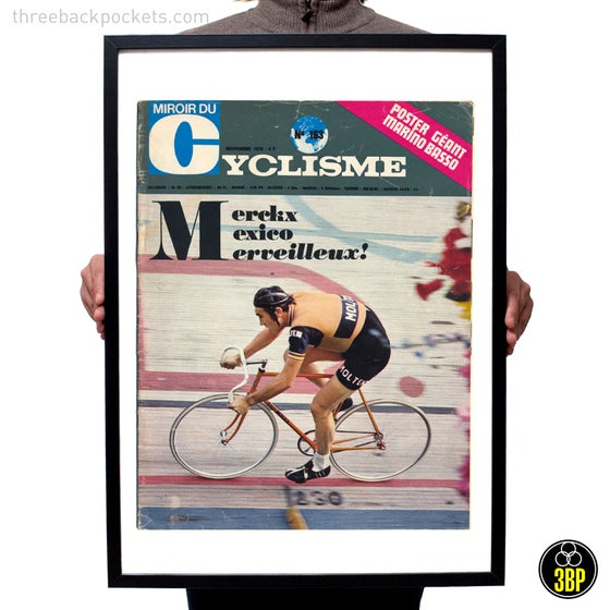 Image of Large Eddy Merckx 1972 Hour Record magazine cover print