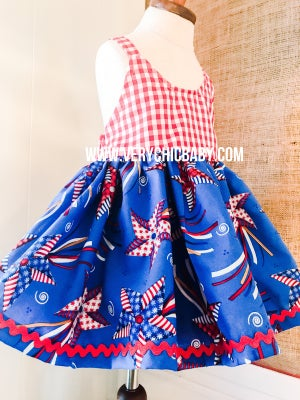 Image of Independence Day Picnic Tunic or Dress