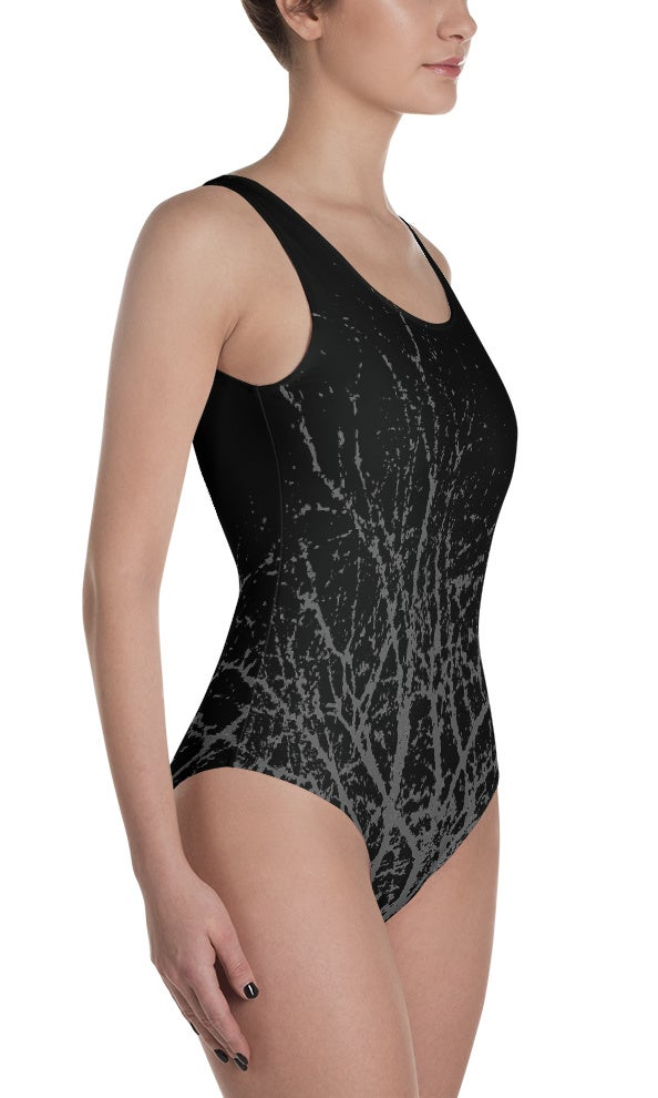 Image of TRIPLE MOON BRANCHES ONE PIECE SWIMSUIT