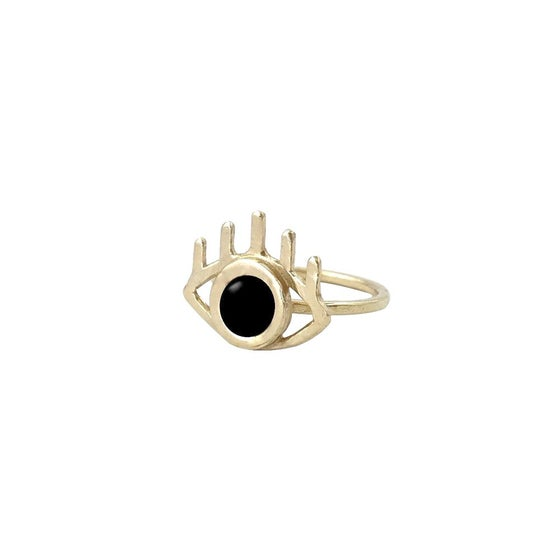 Image of Eye Ring with Black Onyx