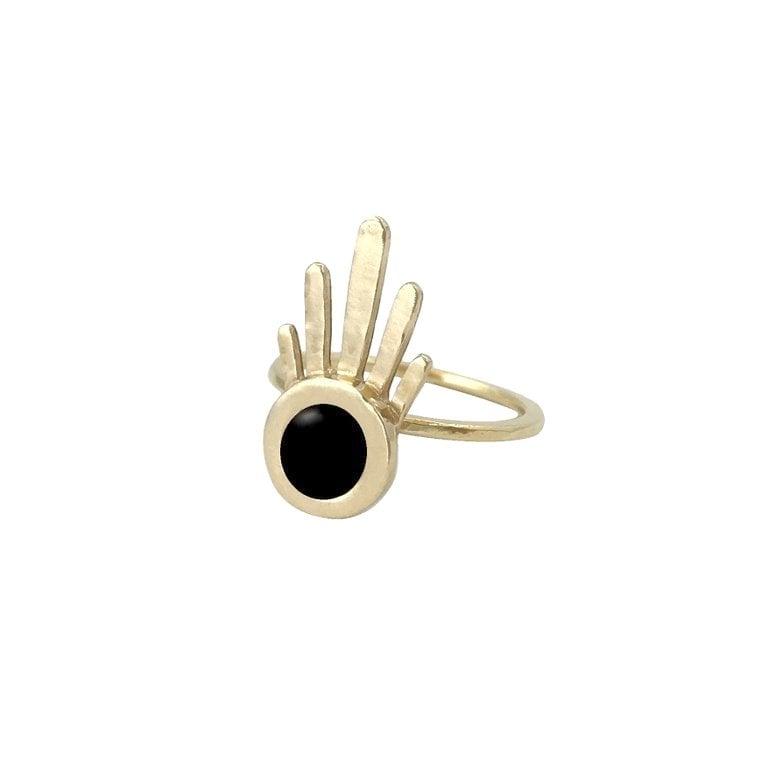 Image of Burst Ring with Black Onyx
