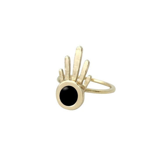 Image of Burst Ring with Black Onyx