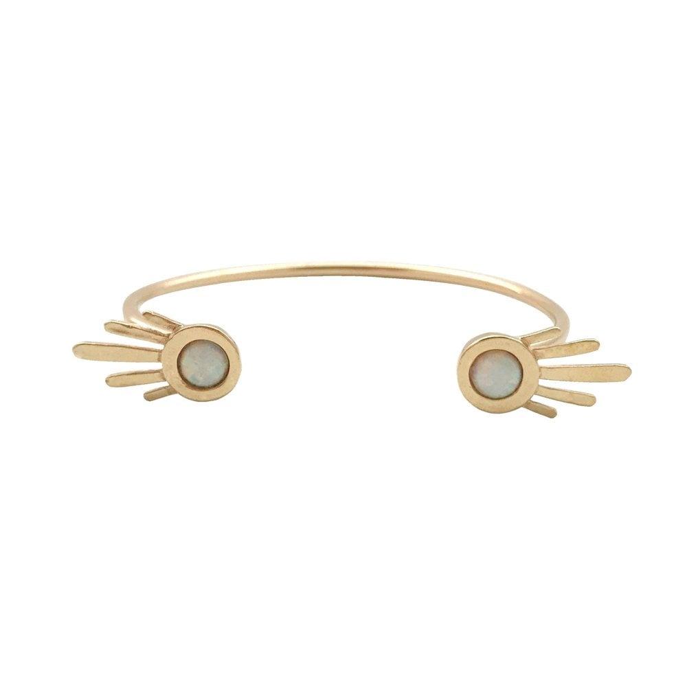 Image of Burst Open Cuff Bracelet with Opal