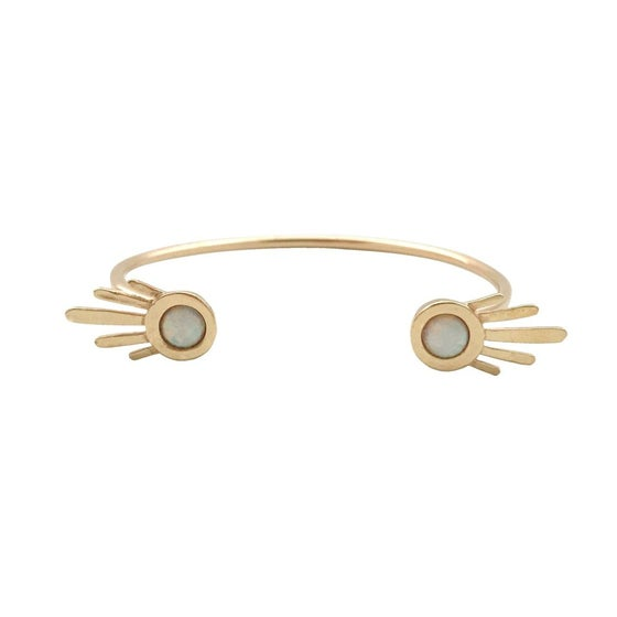 Image of Burst Open Cuff Bracelet with Opal