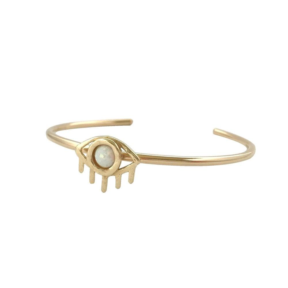 Image of Eye Cuff Bracelet with Opal