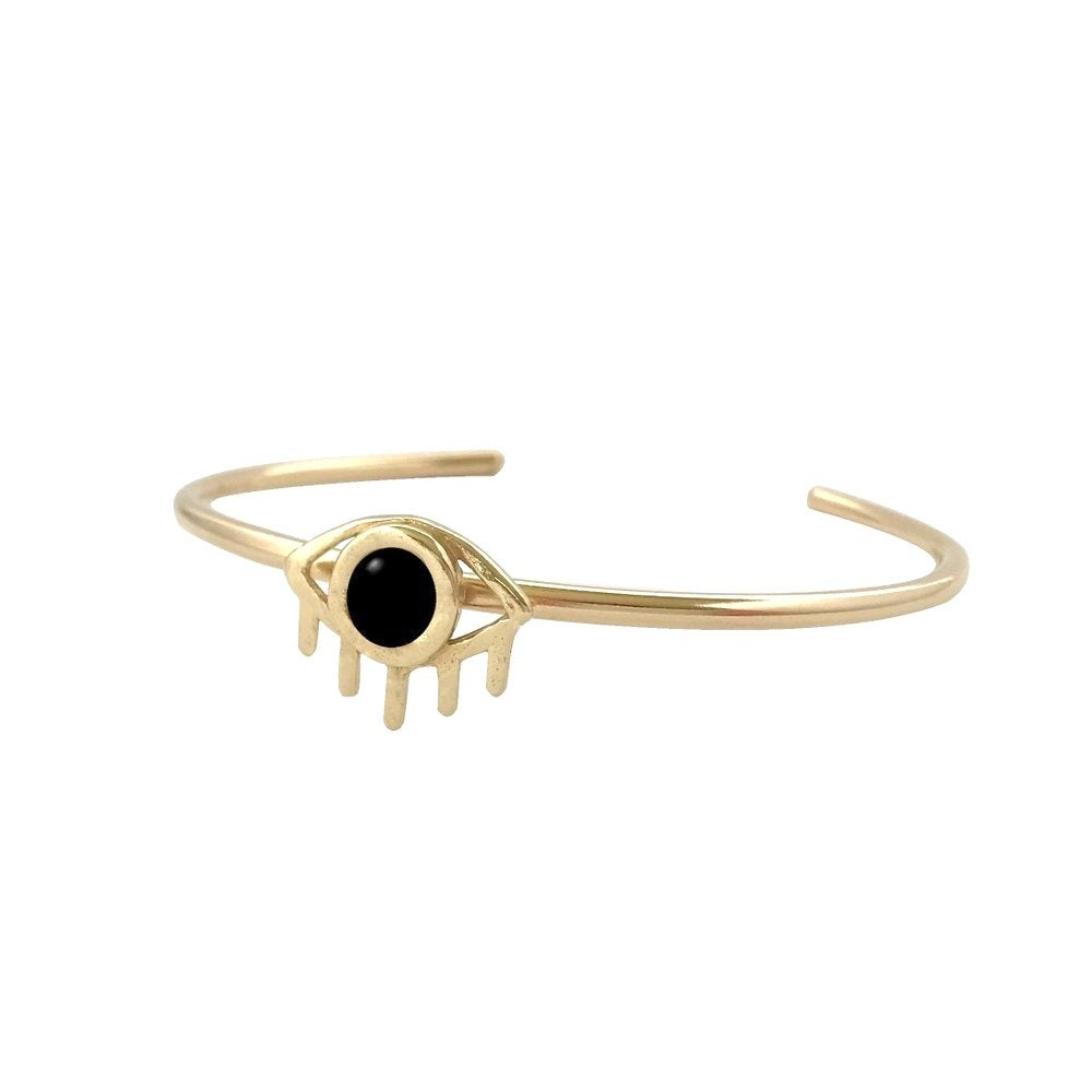 Image of Eye Cuff Bracelet with Black Onyx