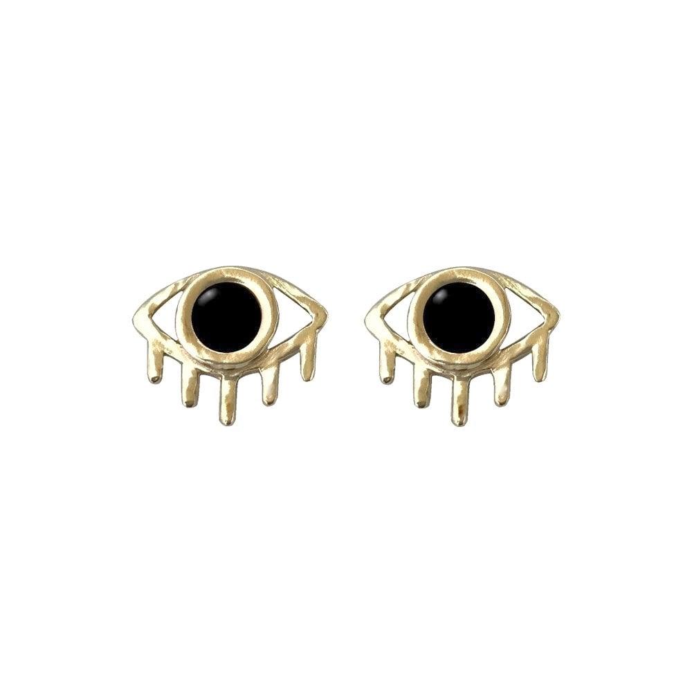 Image of Eye Earrings with Black Onyx