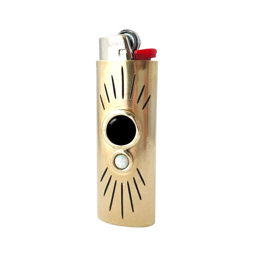 Image of Orbit Lighter Case with Large Black Onyx