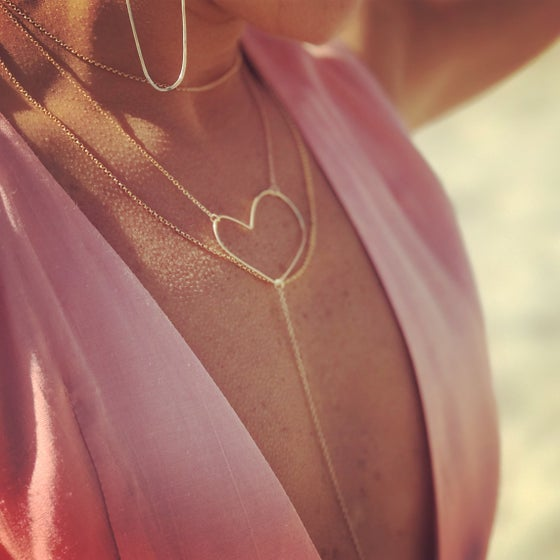 Image of Heart Y Necklace