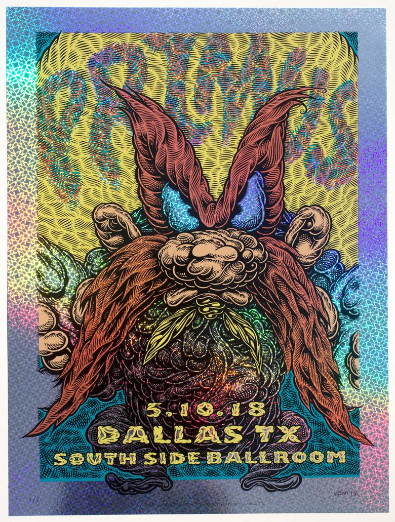 Image of Primus Gig Poster: Back Off, 2018 (Kaleidoscope Foil) MISPRINT 2