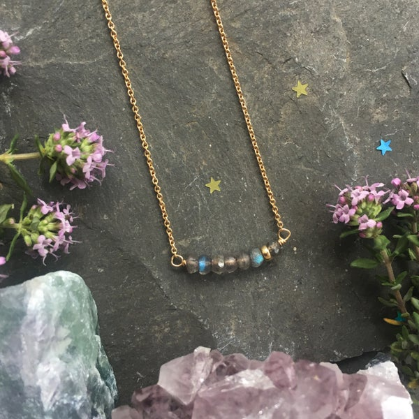 Image of Labradorite Seven Necklace - Gold Filled