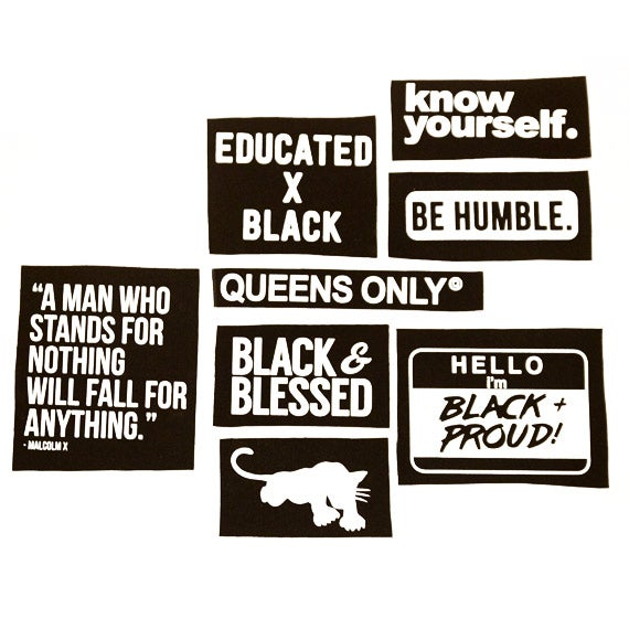 Image of Black Pride Sew On Printed Patches