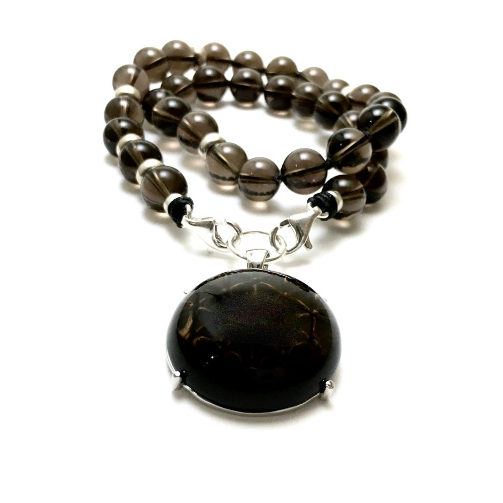 Image of NEW! Guidance  Smoky Quartz & Flower of Life