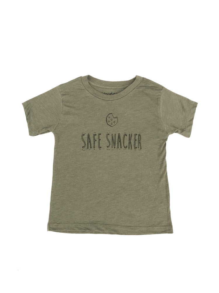 Image of Olive Safe Snacker Tee