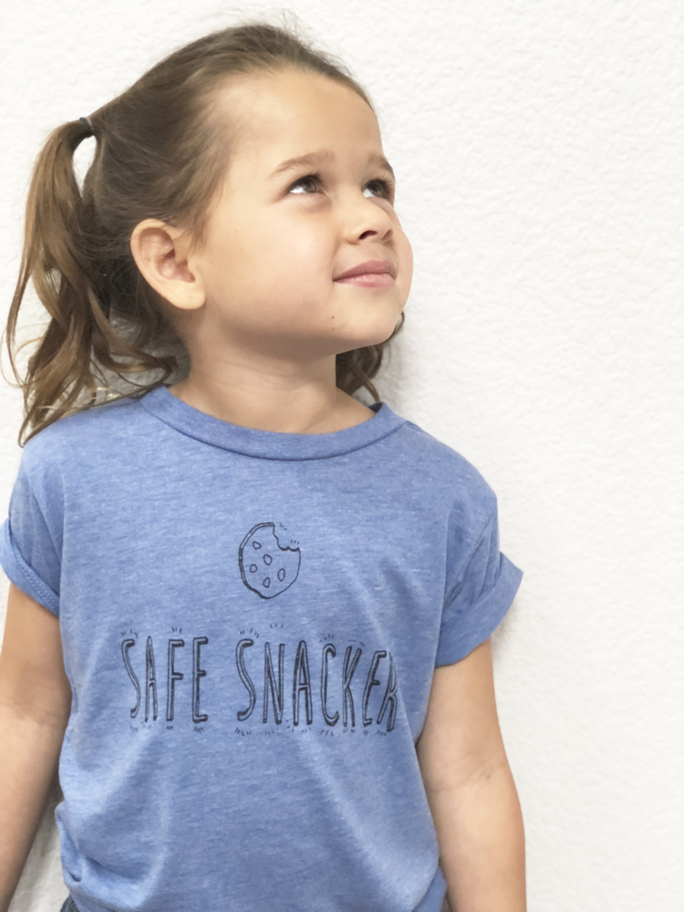 Image of Blue Safe Snacker Tee