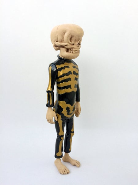 Image of Bone Trotters Art Figure Gold Edition by Matt Gordon