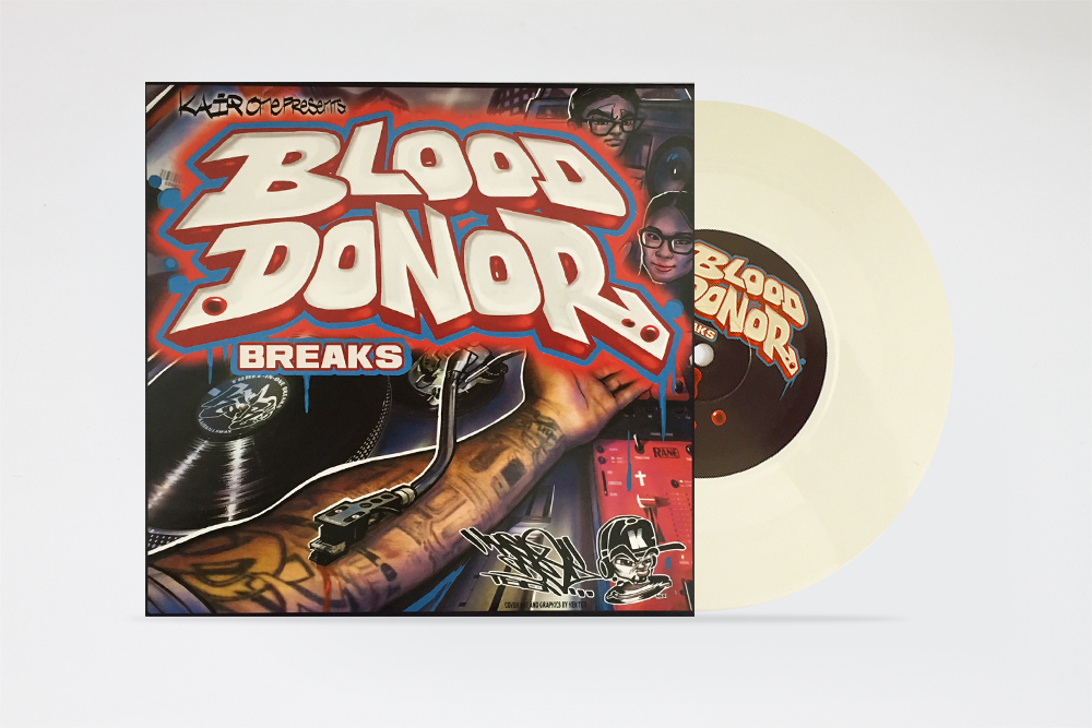 "Image of BLOOD DONOR BREAKS 7"" by KAIR ONE"
