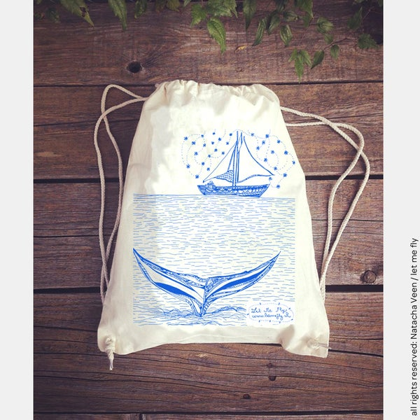 Image of Gym bag *Boat with stars*