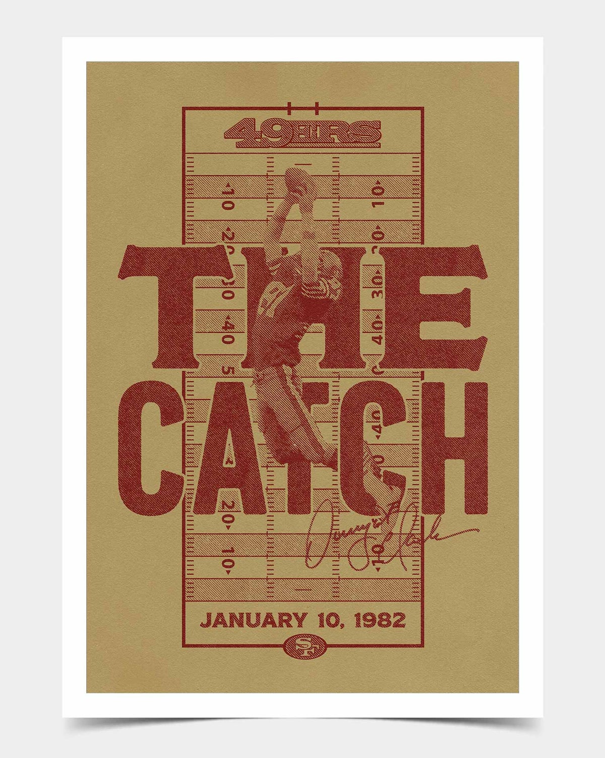 Image of 49ers 'The Catch' Print