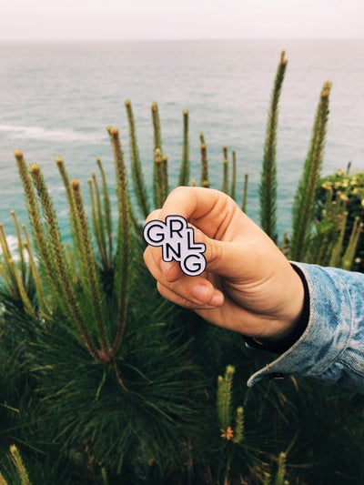 Image of grlgng lapel pin
