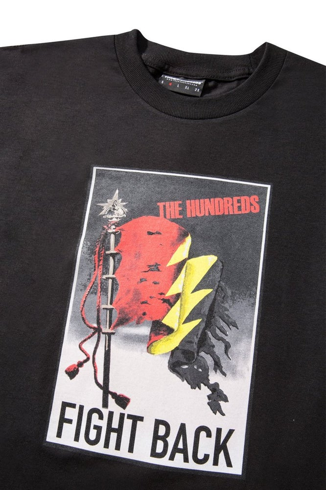 Image of THE HUNDREDS - FIGHT BACK TEE (BLACK)