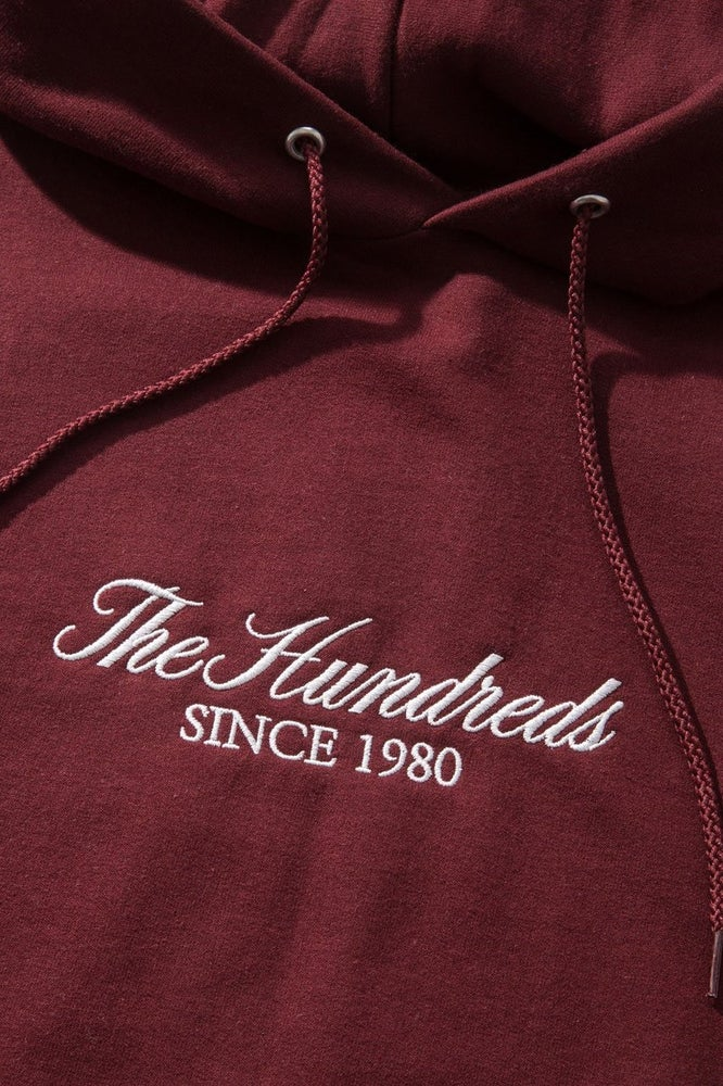 Image of THE HUNDREDS - RICH EMBROIDERY PULLOVER (MAROON)