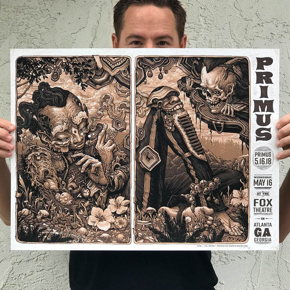 Image of PRIMUS May 16, Fox Theatre at Atlanta Georgia Gig Poster