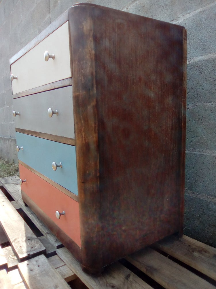 Image of Commode années 50 peinte